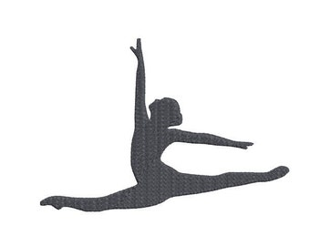 Dancer Machine Embroidery Design, 4x4 and 5x7, Silhouette,2 sizes, ballet embroidery, dance bag embroidery, dance embroidery, gymnastics