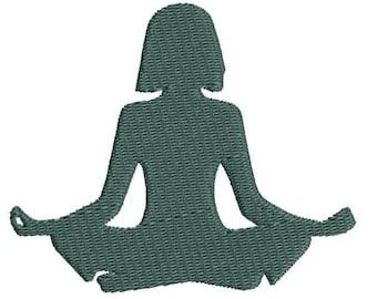 Yoga Machine Embroidery Design, yoga embroidery design, yoga design, yoga pattern, yoga bag embroidery, yoga mat embroidery design, download