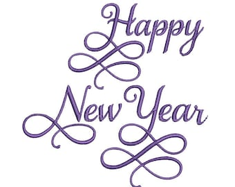 Happy New Year Machine Embroidery Design, Happy New Year embroidery design, Happy New Year embroidery design, 2022 embroidery, 4x4 hoop