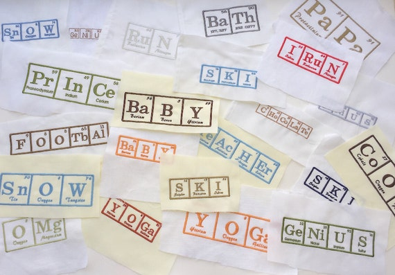 Periodic table of elements embroidered squares for quilt squares periodic table of elements embroidered squares for quilt squares pillow trimming bag making or other crafts periodic table fabric squares from urtaz Gallery