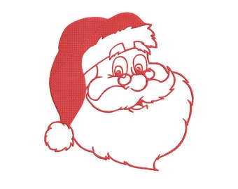 Santa Claus Embroidery Design, 2 sizes, 4x4 & 5x7 hoop, santa embroidery design, Christmas embroidery design
