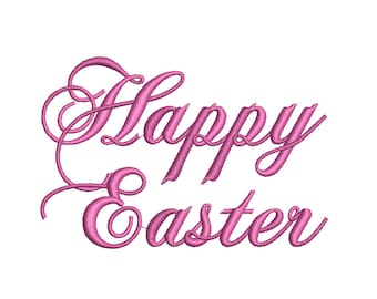 Happy Easter Machine Embroidery Design, Happy easter Script design, Happy Easter embroidery design, Easter pattern, Easter table ideas