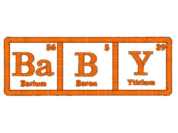 Baby Periodic Table Of Elements Machine Embroidery Etsy