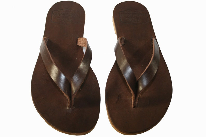 d2533e86d83d Brown Surf Leather Sandals for Women   Men Handmade Leather