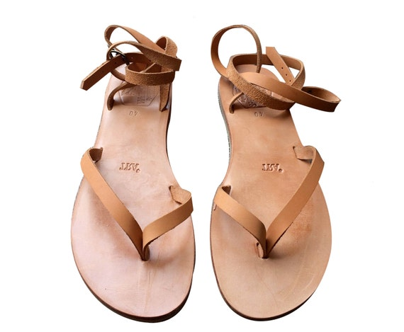 b375f0145 Tan Swell Leather Sandals for Women   Men Handmade Leather