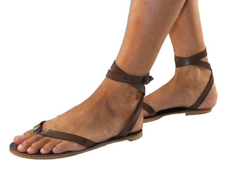 0204c4e38 Brown Swell Leather Sandals for Women   Men Handmade Leather