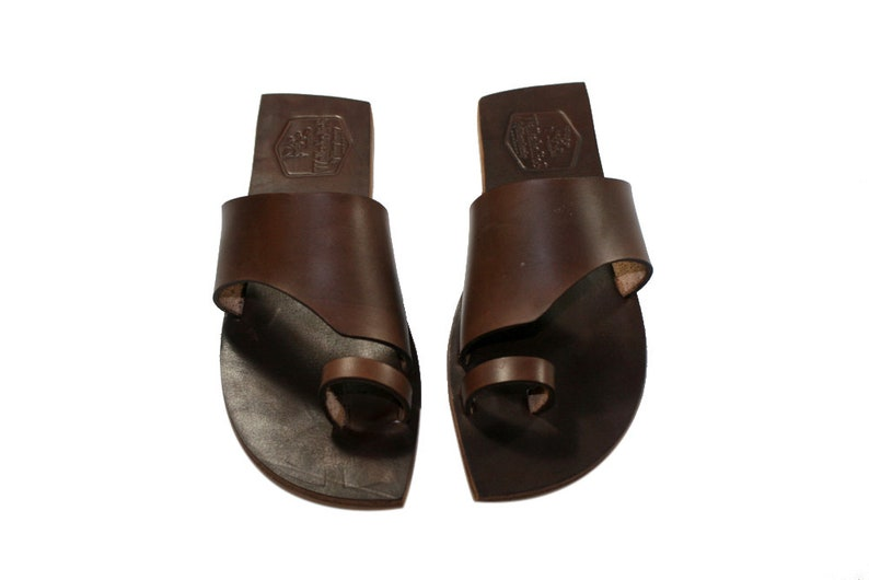 0bf088d9736fa0 Brown Rebel Leather Sandals for Women   Men Handmade by