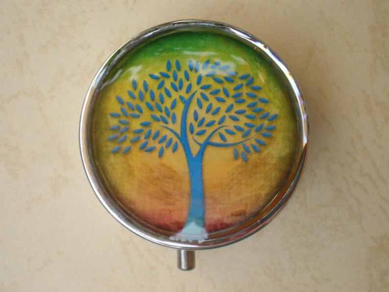 Pill container Jewelry box Tree Pill case Pill box Mint case