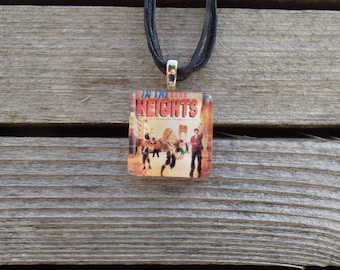Broadway Musical In The Heights Glass Pendant and Ribbon Necklace