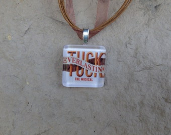 Broadway Musical Tuck Everlasting Glass Pendant and Ribbon Necklace