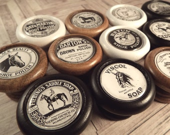 Horse Shoe Polish Nostalgic Decorative Knobs, Drawer Pulls, Handles...Price is for 1 Knob (Quantity Discounts Available!)