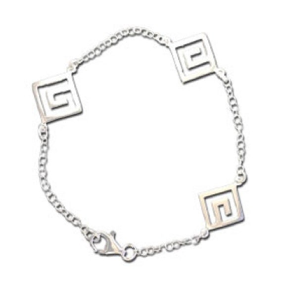 Greek design sterling silver bracelet