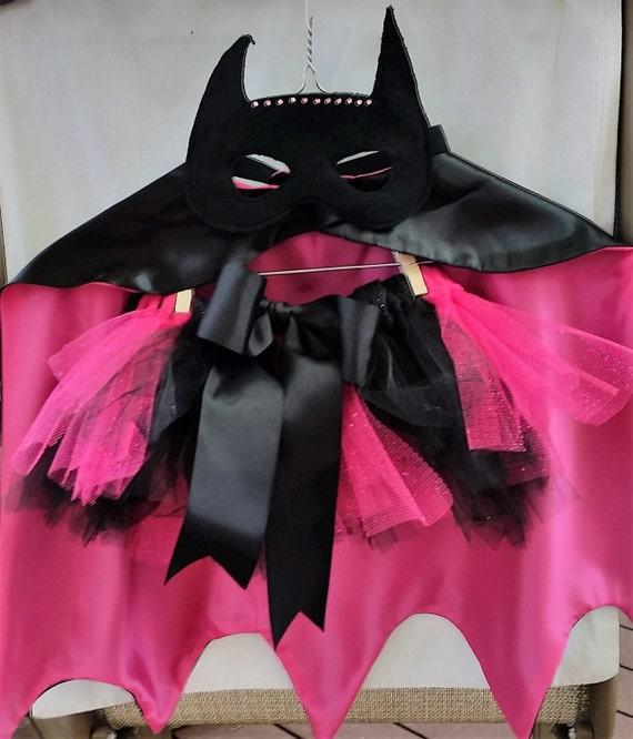cape de super h ros inspir de batgirl tutu et masque cape etsy. Black Bedroom Furniture Sets. Home Design Ideas