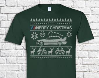 BMW E30 Christmas Sweater - Hoodie - Hooded Sweatshirt SAl55d