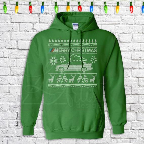 Kersttrui 10 Euro.Bmw E30 Christmas Sweater Hoodie Hooded Sweatshirt