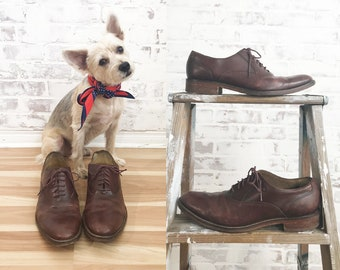 a3a378dc3cf Vintage Rustic COLE HAAN Brown Leather Oxford shoes