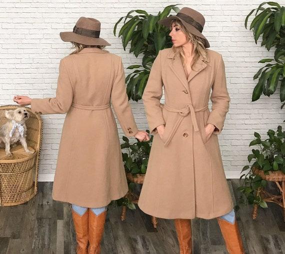 70's Tan Wool Princess Coat