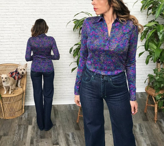 70's French Psychedelic Blouse