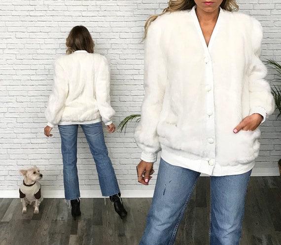 60s Lilli Ann Fur Coat, White Faux Fur Coat, Vegan