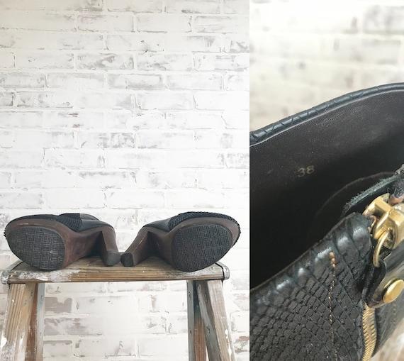 Vintage Platform Glam Boots, Black Platform Boots… - image 6