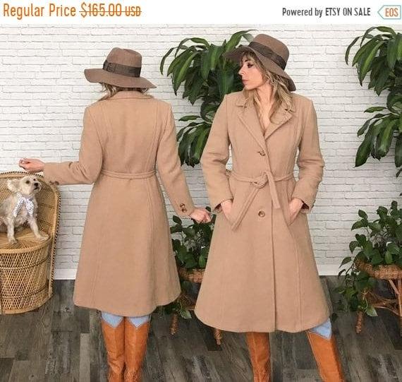 25% Off Spring Sale 70's Tan Wool Princess Coat