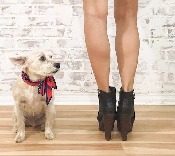 Vintage Platform Glam Boots, Black Platform Boots… - image 3