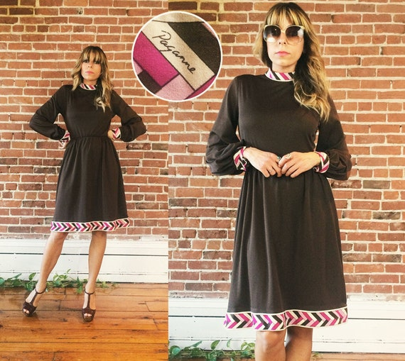 1960s Paganne Dress // Pucci Style // 70s Paganne
