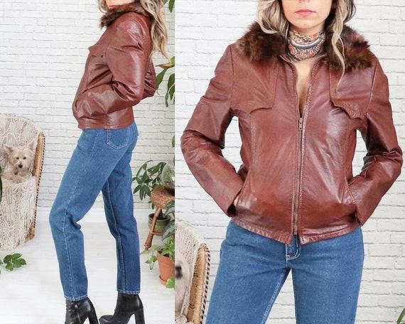1970's Leather Flight Bomber Jacket • Leather 70s… - image 2