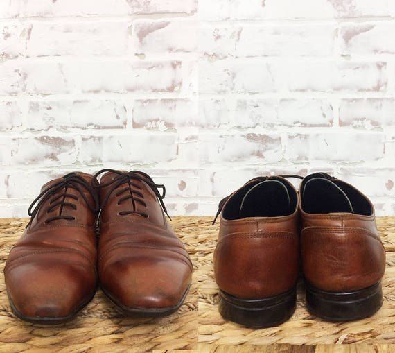Taille Kenneth VINTAGES Cole chaussures COGNAC 12 marron Oxford cuir 0wqIaSw