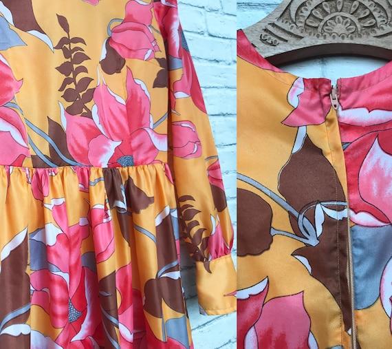 60's Coral And Marigold Maxi Dress - image 7