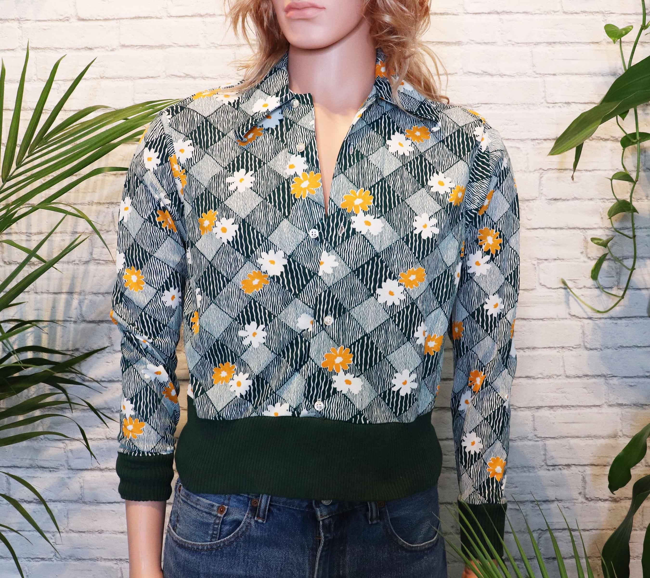 1960s – 70s Men's Ties | Skinny Ties, Slim Ties 1960S Hippie Gaucho Shirt  Rare Gaucho Originals Pullover Long Sleeve Polo Deadstock Unworn Ribbed Knit Disco Funk $19.55 AT vintagedancer.com