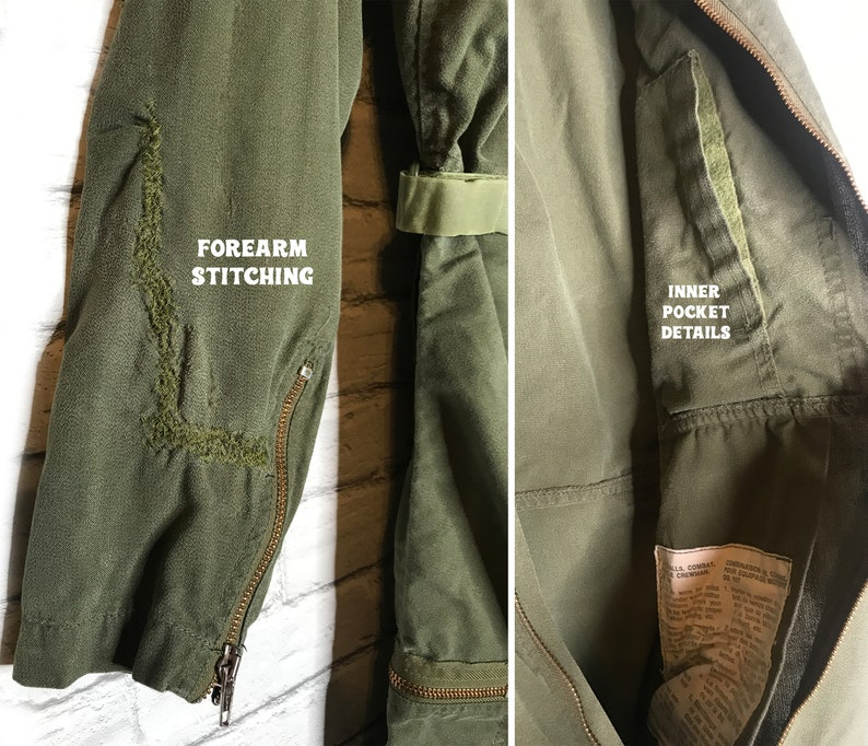 Size Small Vintage 70/'s 80/'s Military JUMPSUIT Army Workwear Coveralls| Safari Suit Army Green Flight Suit