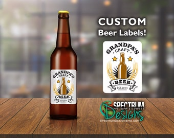 Homebrew Craft Beer Labels - Custom