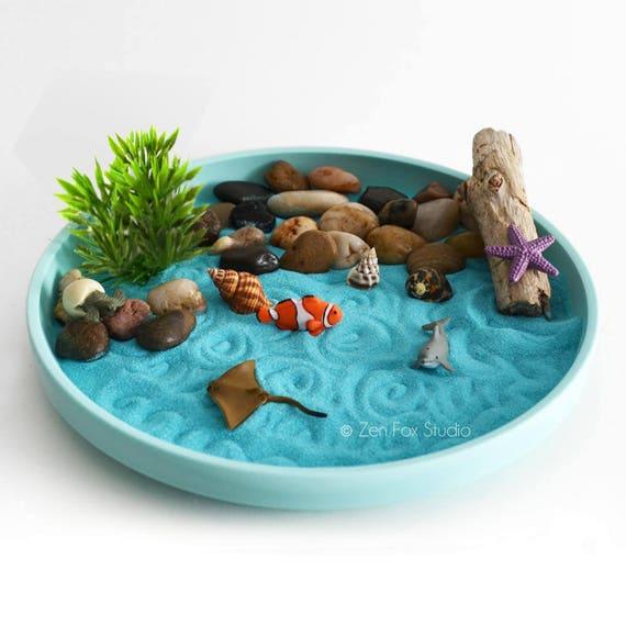 Mini Zen Garden Ocean Sand Garden Desk Accessory