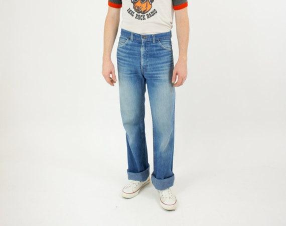 Levi's Orange Tab Men's Light Weight Thin Denim Boot Cut Long Straight Leg Jeans High Waisted Vintage Size 30
