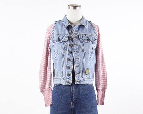 90's Denim Vest Women's Vintage Size Small