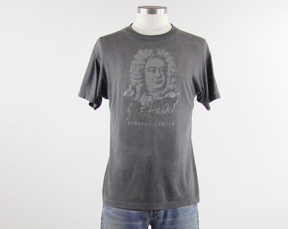 Handel Vintage T-shirt Paper Thin Grey Tee Shirt Size Medium
