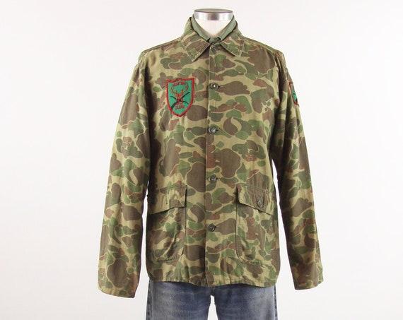 50's Hunting Shirt Men's Camouflage Vintage Light Jacket Vintage Size Medium