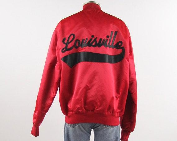 Louisville KY Baseball Jacket Vintage Coaches Satin Coat Size Large
