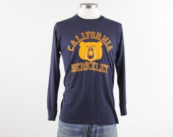 California Berkley Vintage Navy Long Sleeve T-Shirt Size Medium Oksi the Bear