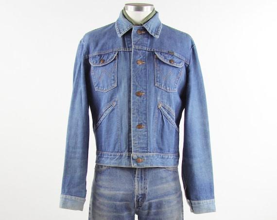 Wrangler Jean Jacket 70's Selvedge Denim Jean Coat Size Medium M