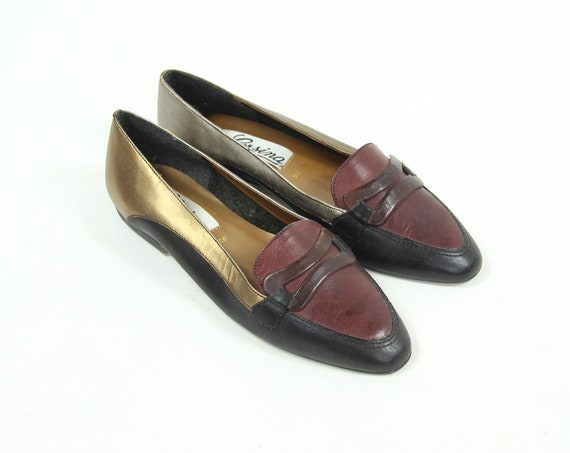 Women's 7 Vintage Slip on Leather Shoes Made in Spain