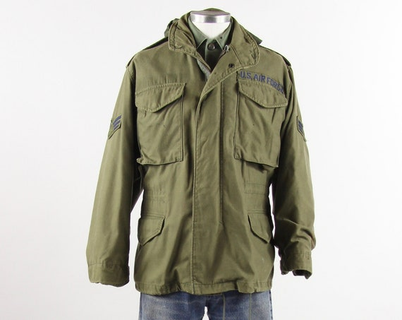 OG-107 Military Coat Men's Olive Green Military Vietnam 70s Jacket Size Small