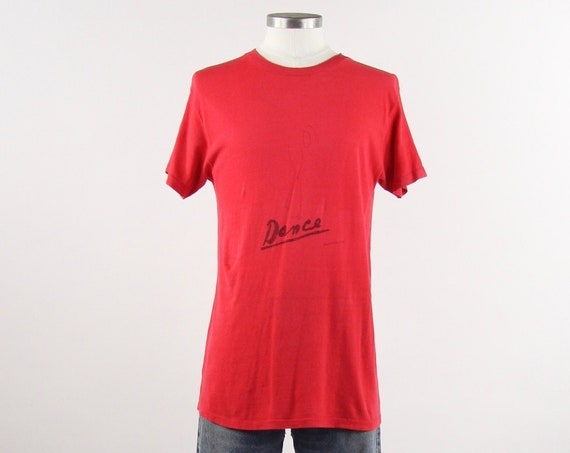 Dance Red Single Stitch Soft Paper Thin T-shirt Hanes Medium
