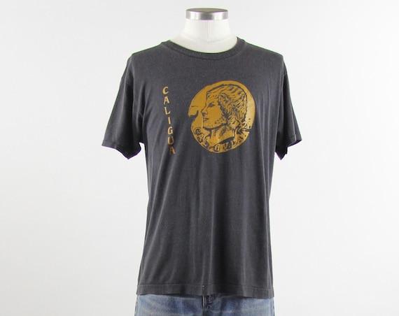 Caligula Mobile Alabama Vintage Grey Black Soft Screen Stars T shirt Size Medium