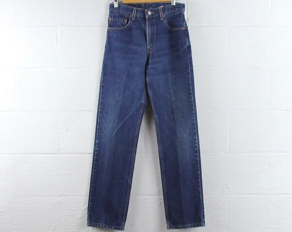 Levi's 505 Dark Wash Vintage Jeans Red Tab Regular Straight Leg 29 x 32