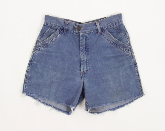 70's Jean Shorts Women's Cut Off High Waisted Shorts Jorts Size 8 28""