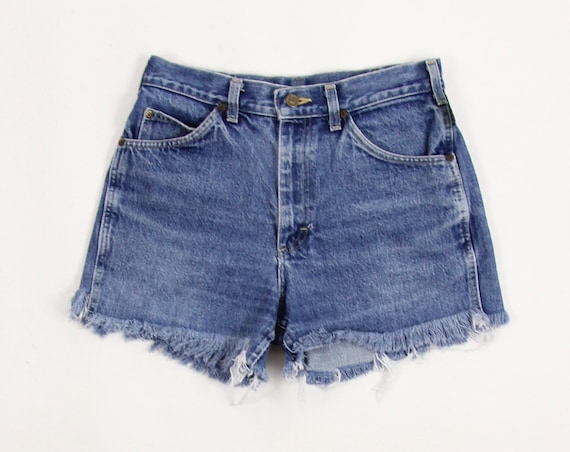 Lee Riders Jean Shorts Vintage Denim Cut Off Women's Shorts 100% Cotton Made in the USA Tag Size 32 x 32