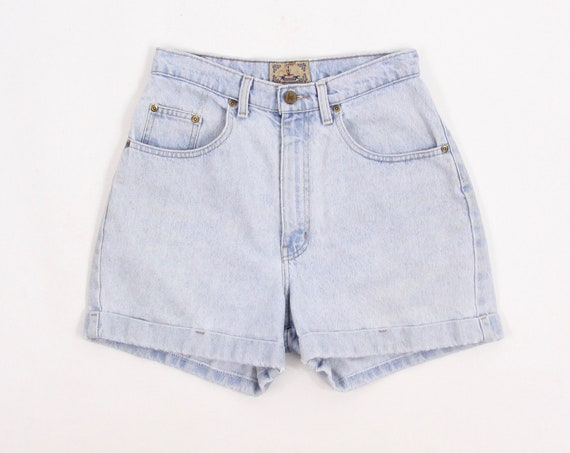 90's Jean Shorts Women's High Waisted Cuffed Jorts by Weathervane Vintage Size 29""