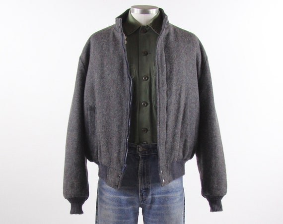 Field and Stream Wool Sherpa Men's Jacket Made in USA Vintage Size Large